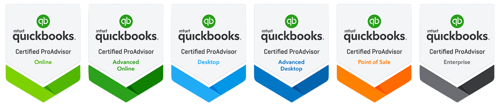 The QuickBooks ProAdvisor badges MBS Accountancy holds