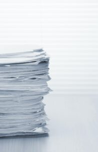 Stack of paper documents
