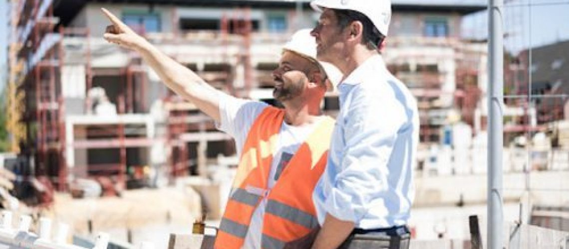 Construction workers on a project to represent the construction industry advisory workflow