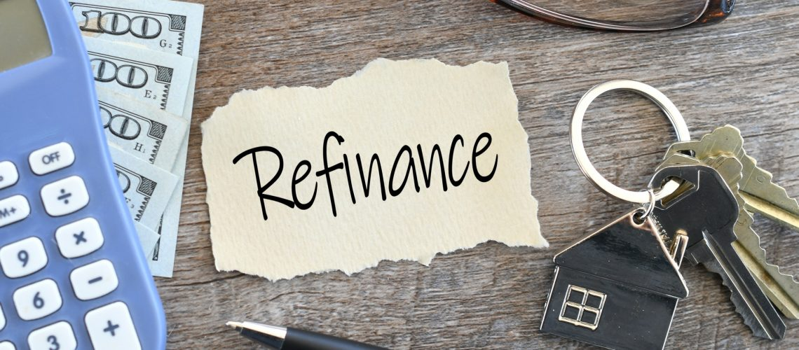 Refinance home loan flat lay - refinancing mortgage with better interest rates